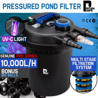 PROTEGE Aquarium External Canister Filter Aqua Fish Tank Pond Water UV Light 10000 L/H