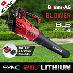 Baumr-AG Lithium Cordless Leaf Blower Electric Hand-held Garden Tool 20V