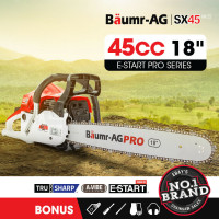 "Baumr-AG 45cc 18"" Bar E-Start Commercial Petrol Chainsaw SX45"