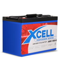 X-CELL AGM Deep Cycle Battery 12V 100Ah Portable Sealed Performer Series