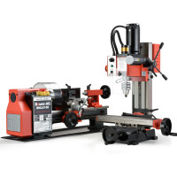 BAUMR-AG 400W Mini Metal Lathe and 350W Mill Drill Press Machine Combo