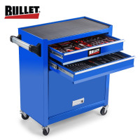 BULLET 225 Piece Metric Tool Kit Cabinet Trolley Tool Box Mechanic Toolbox Set