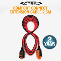 "CTEK Comfort Connect Extension Cable 2.5M 8'2"" Suits MXS 5.0, MXS 7.0, MXS 10"