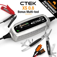 CTEK 12V Automatic Smart Battery Charger - XS 0.8