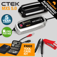CTEK MXS 5.0 12V 5Amp Smart Battery Charger Combo Car Boat Tractor Marine AGM
