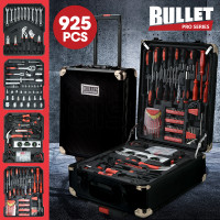 BULLET 925PC Tool Box On Wheels, Black
