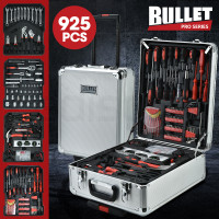 BULLET 925PC Tool Box On Wheels, Silver