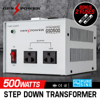 GENPOWER 500W 240V-110 Step Down Transformer Stepdown Voltage Converter AU-US