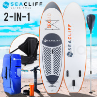 PRE-ORDER SEACLIFF Stand Up Paddle Board SUP Inflatable Paddleboard Kayak Surf Board White and Orange