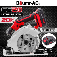 Baumr-AG 20V Lithium Cordless Circular Saw Cut Electric Cutting Tool