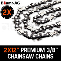 "Baumr-AG 2 x 12"" Chainsaw Chain 12in Bar Spare Part Replacement Suits Pole Saws"