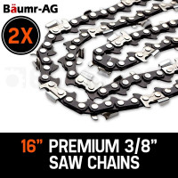 "Baumr-AG 2 X 16"" Chainsaw Chain 16in Bar Replacement Suits SX38 38CC Saws"