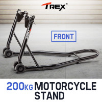 T-REX Motorcycle Front Stand Heavy-Duty Motorbike Lift Paddock Carrier Bike Fork