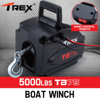T-REX 5000lbs Electric Boat Winch Portable Detachable 12V ATV 4wd 4x4 Trailer