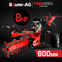 """Baumr-AG Trencher 600mm / 24"""" Trench Ditch Digger 4-stroke Petrol Chain Driven"""