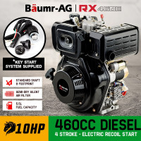 Baumr-AG 10HP Diesel Stationary Engine Electric Start OHV Replacement Motor