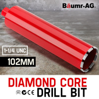 Diamond Core Drill Bit 102mm Concrete Wet Dry Tile Stone Brick Marble 1-1/4 UNC
