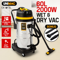 60L 2000W Stainless Steel Wet and Dry Vacuum