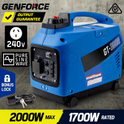 PRE-ORDER GENFORCE Inverter Generator 2000Watts Max 1700Watts Rated Portable Camping Petrol