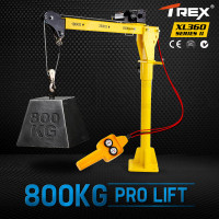 T-REX 800kg Electric Hoist Winch Crane 12V 360 Degree Engine Car Truck Lift NEW