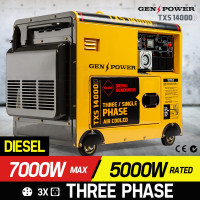 GENPOWER Diesel Generator 3 Three Single Phase Max 7kVA Rated 5kVA 420CC