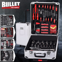 BULLET 725 Piece Tool Kit Trolley Case Mechanics Box Toolbox Portable DIY Set