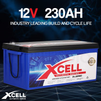 PRE-ORDER X-CELL AGM Deep Cycle Battery 12V 230Ah Portable Sealed Ultimate Series - ZLS230