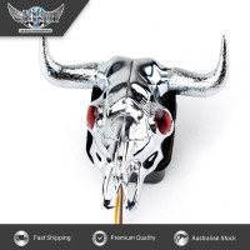 JAXSYN Novelty Tow-bar / Trailer Hitch Cover - Chrome Plated Bull Skull
