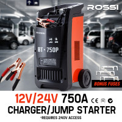 ROSSI Car Battery Charger 750A 12v/24v Jump Starter ATV Boat Truck Tractor