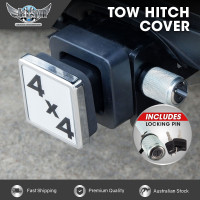 JAXSYN Novelty Tow-bar/Trailer Hitch Cover - 4x4 with Hitch Pin