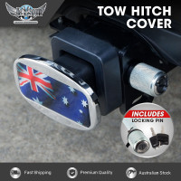 JAXSYN Novelty Towbar Trailer Hitch Cover Tow - Aussie Flag - with Hitch Pin