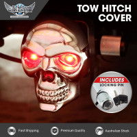 JAXSYN Chrome Plated Skeleton Skull Novelty Tow-bar/Trailer Hitch Cover with Pin