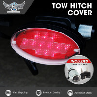 JAXSYN Novelty Tow-bar / Trailer Hitch Cover - Red Oval Brake Light Chevvy - with Hitch Pin