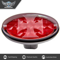 Novelty Tow-bar / Trailer Hitch Cover - Red Oval Brakelight Iron Cross