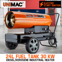 UNIMAC 30kW Industrial Diesel Heater Fan Kerosene Workshop Shed Drying Warming
