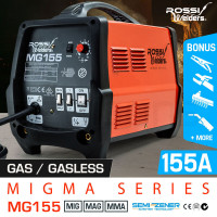ROSSI 155Amp MIG ARC MAG Gas Gasless Welder DC Welding Machine Inverter Tool