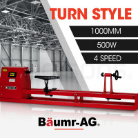 BAUMR-AG 500W 1000 x 350mm Mini Wood Lathe Turning Machine