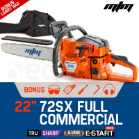 "PRE-ORDER MTM 22"" Bar E-Start System Commercial Petrol Chainsaw - 72SX"
