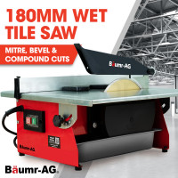 BAUMR-AG 180mm 600W Table Top Tile Saw Wet Cutter