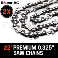 "Baumr-AG 2 x 22"" Chainsaw Chain 22 Inch Bar Replacement 0.325"" 0.058"" 86DL"