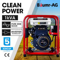 BAUMR-AG 1.0kVA Max 0.8kVA Rated Portable Open-Frame Inverter Generator