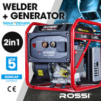 ROSSI Portable Petrol Engine-Driven Inverter Welder Generator Combo