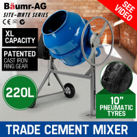 Baumr-AG  220L Portable Electric Concrete Cement Mixer