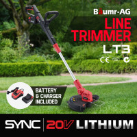 Baumr-AG LT3 20V SYNC Cordless Line Trimmer Whipper Snipper with Battery and Charger Kit