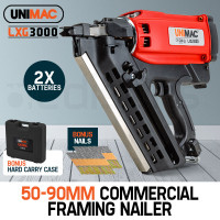 PRE-ORDER UNIMAC Cordless Framing Nailer 34 Degree Gas Nail Gun Portable Battery Charger