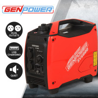 GENPOWER Inverter Generator 2500 Watts Max 2000 Watts Rated Portable Camping Petrol