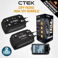 CTEK Off Road 140A 12V Dual Battery Energy Management System, with D250SA Charger, SMARTPASS 120, MONITOR