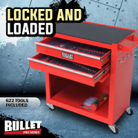 Red 622 Piece Box Chest Cabinet Tool Kit Set