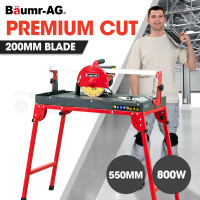 """BAUMR-AG 800W 550mm Electric Wet Tile Saw Cutter with 200mm (8"""") Blade"""