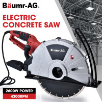PRE-ORDER BAUMR-AG 355mm Electric Circular Concrete Saw Wet/Dry, with Diamond Blade